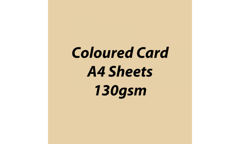 Heyda 100% Recycled Coloured Card  A4 130 gsm barcoded 100 sheets-Chamois
