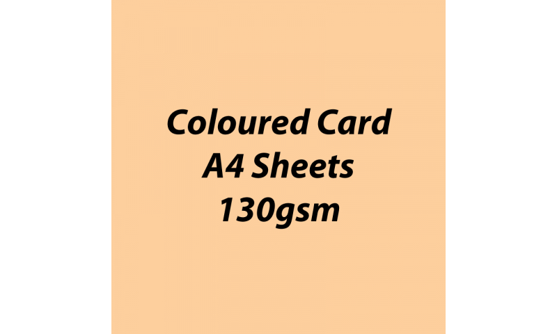Heyda 100% Recycled Coloured Card  A4 130 gsm barcoded 100 sheets-Beige