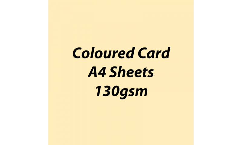 Heyda 100% Recycled Coloured Card  A4 130 gsm barcoded 100 sheets-Vanilla