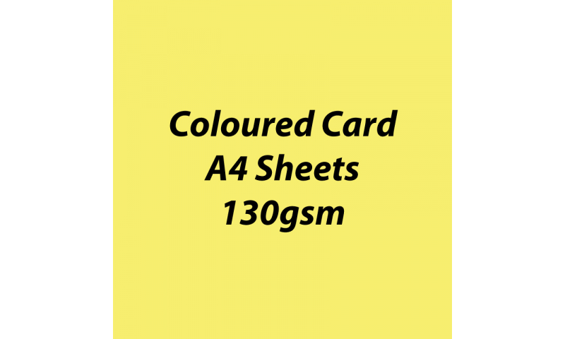 Heyda 100% Recycled Coloured Card  A4 130 gsm barcoded 100 sheets-Lemon