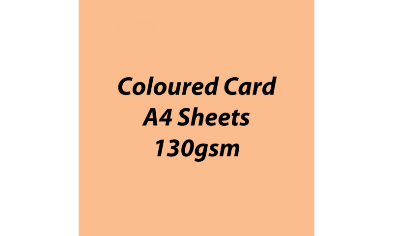 Heyda 100% Recycled Coloured Card  A4 130 gsm barcoded 100 sheets-Apricot
