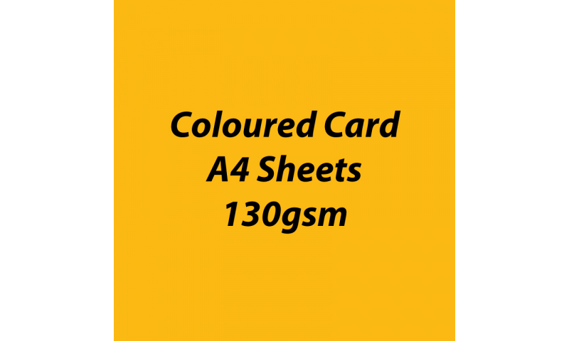 Heyda 100% Recycled Coloured Card  A4 130 gsm barcoded 100 sheets-Mango