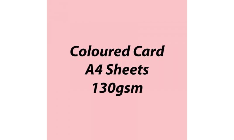 Heyda 100% Recycled Coloured Card  A4 130 gsm barcoded 100 sheets-Light Rose