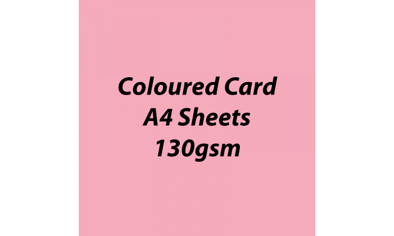 Heyda 100% Recycled Coloured Card  A4 130 gsm barcoded 100 sheets-Rose
