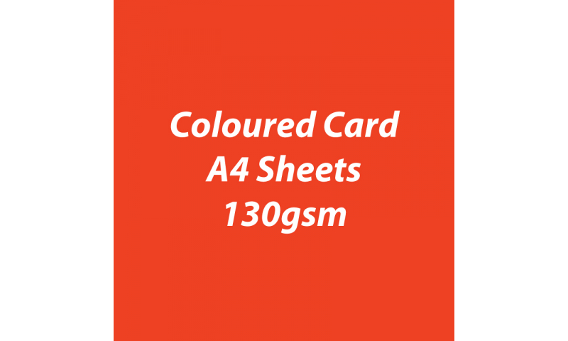 Heyda 100% Recycled Coloured Card  A4 130 gsm barcoded 100 sheets-Light Red