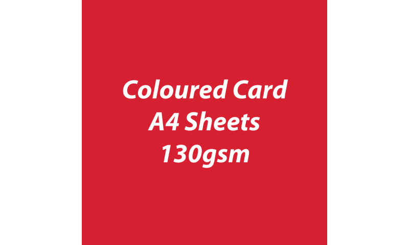 Heyda 100% Recycled Coloured Card  A4 130 gsm barcoded 100 sheets-Red