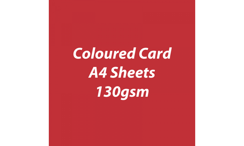 Heyda 100% Recycled Coloured Card  A4 130 gsm barcoded 100 sheets-Poppy Red