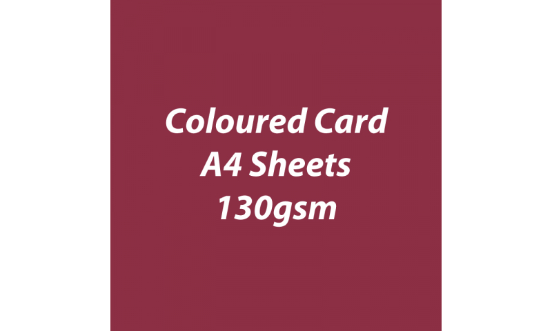 Heyda 100% Recycled Coloured Card  A4 130 gsm barcoded 100 sheets-Bordeaux