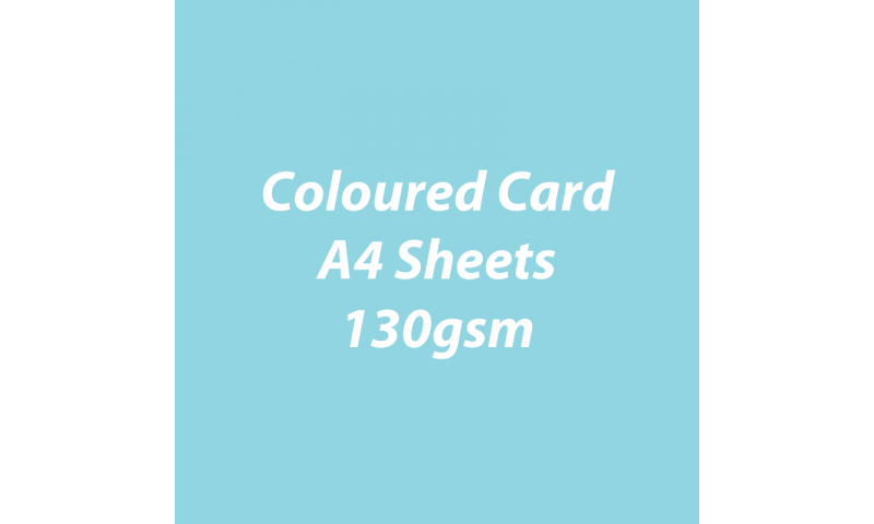 Heyda 100% Recycled Coloured Card  A4 130 gsm barcoded 100 sheets-Light Blue