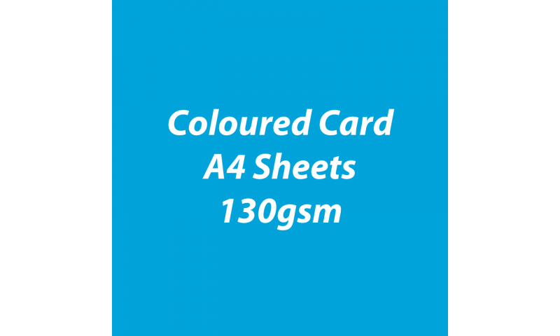 Heyda 100% Recycled Coloured Card  A4 130 gsm barcoded 100 sheets-Sky Blue