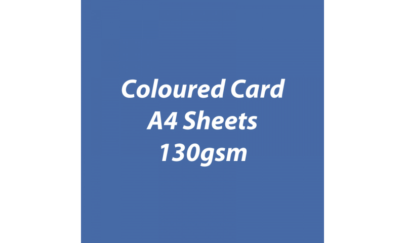 Heyda 100% Recycled Coloured Card  A4 130 gsm barcoded 100 sheets-Dark Blue