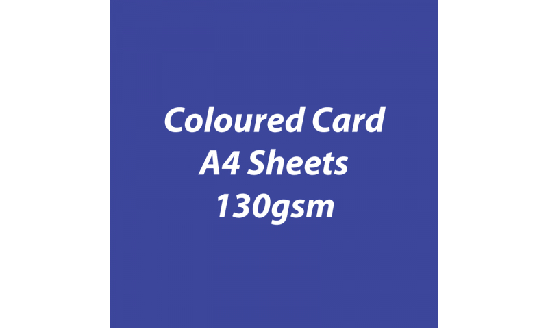 Heyda 100% Recycled Coloured Card  A4 130 gsm barcoded 100 sheets-Royal Blue