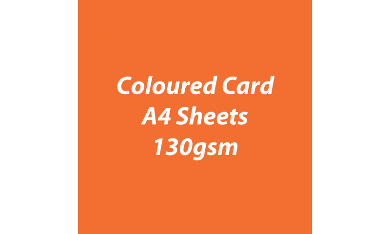 Heyda 100% Recycled Coloured Card  A4 130 gsm barcoded 100 sheets-Orange