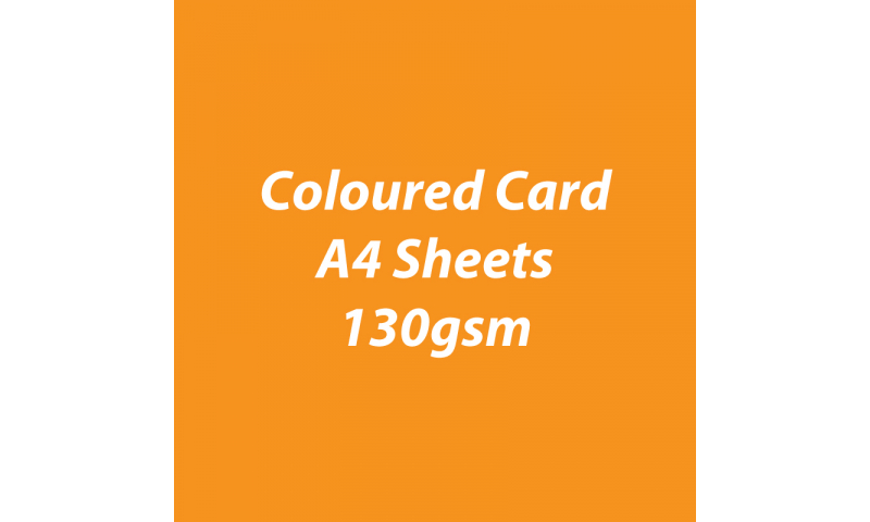 Heyda 100% Recycled Coloured Card  A4 130 gsm barcoded 100 sheets-Pumpkin
