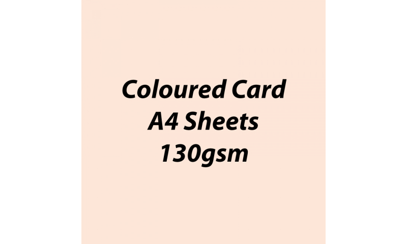 Heyda 100% Recycled Coloured Card  A4 130 gsm barcoded 100 sheets-Flesh