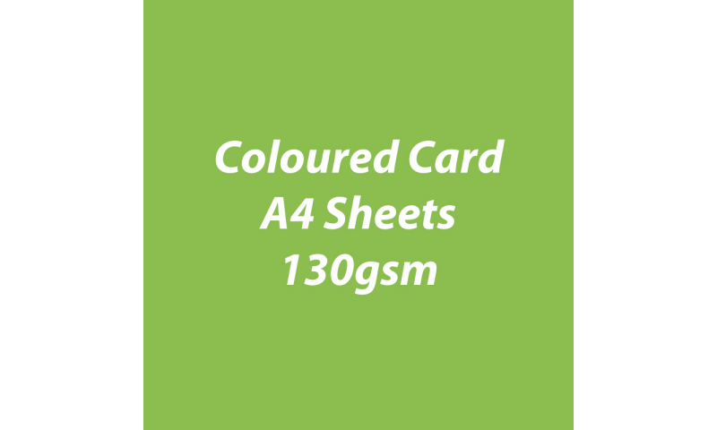 Heyda 100% Recycled Coloured Card  A4 130 gsm barcoded 100 sheets-Lime