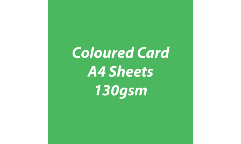Heyda 100% Recycled Coloured Card  A4 130 gsm barcoded 100 sheets-Green