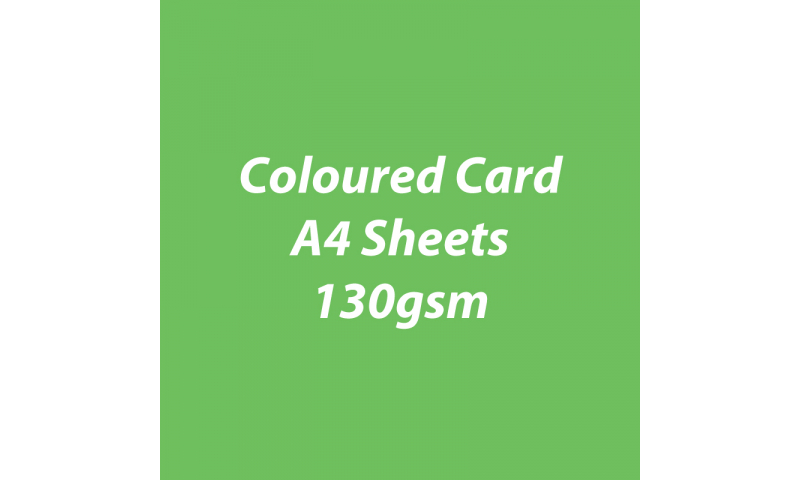 Heyda 100% Recycled Coloured Card  A4 130 gsm barcoded 100 sheets-Grass Green