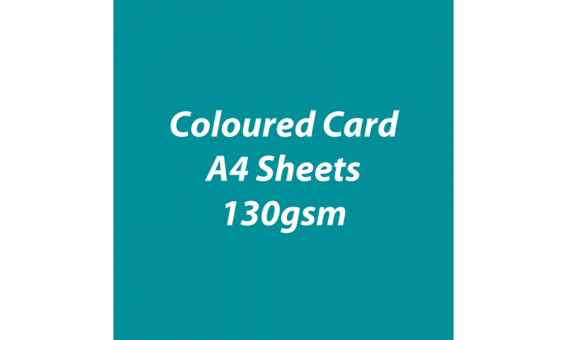 Heyda 100% Recycled Coloured Card  A4 130 gsm barcoded 100 sheets-Tourquoise