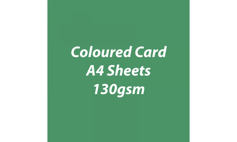 Heyda 100% Recycled Coloured Card  A4 130 gsm barcoded 100 sheets-Pine
