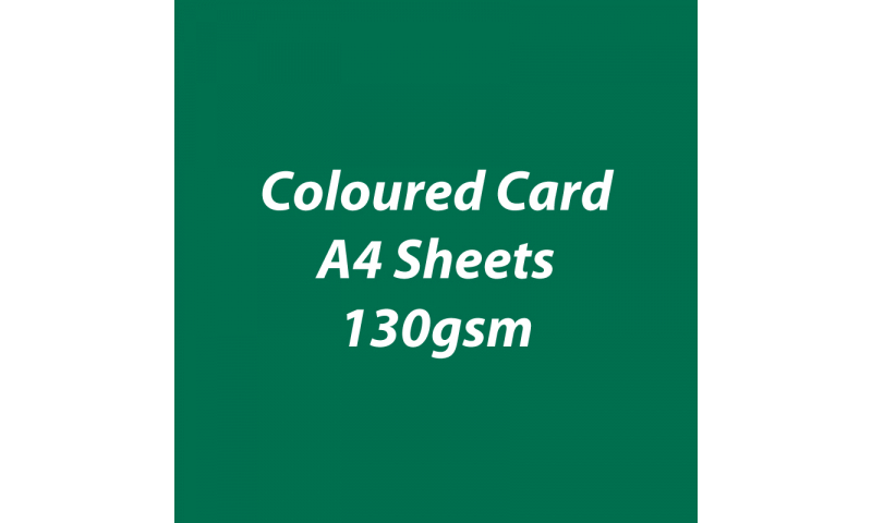 Heyda 100% Recycled Coloured Card  A4 130 gsm barcoded 100 sheets-Dark Green