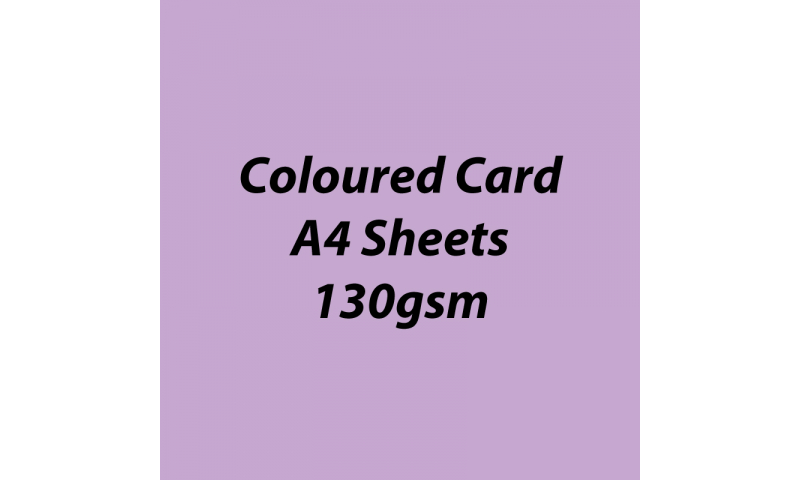 Heyda 100% Recycled Coloured Card  A4 130 gsm barcoded 100 sheets-Light Violet
