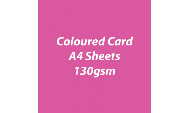 Heyda 100% Recycled Coloured Card  A4 130 gsm barcoded 100 sheets-Pink