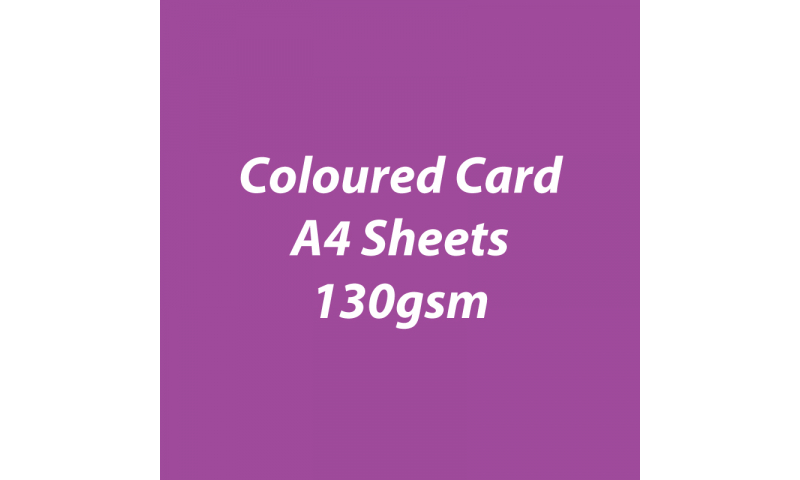 Heyda 100% Recycled Coloured Card  A4 130 gsm barcoded 100 sheets-Berry