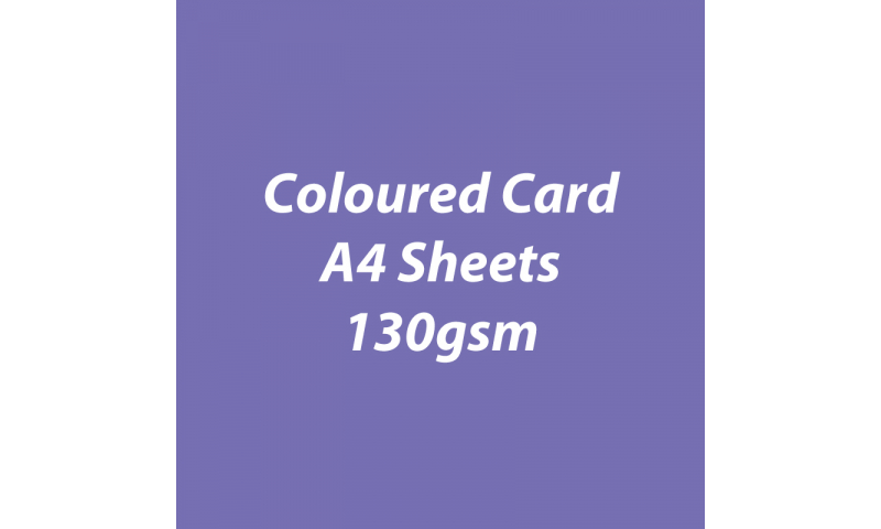 Heyda 100% Recycled Coloured Card  A4 130 gsm barcoded 100 sheets-Lilac