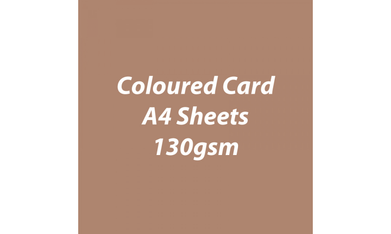 Heyda 100% Recycled Coloured Card  A4 130 gsm barcoded 100 sheets-Toffee