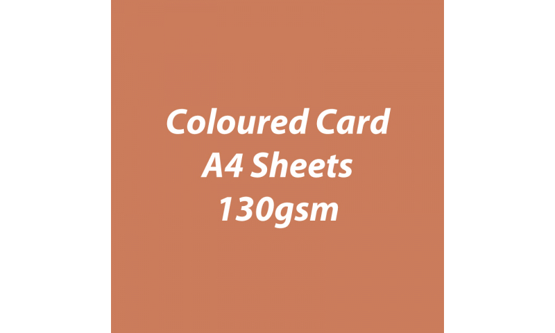 Heyda 100% Recycled Coloured Card  A4 130 gsm barcoded 100 sheets-Terracotta