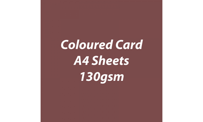 Heyda 100% Recycled Coloured Card  A4 130 gsm barcoded 100 sheets-Chocolate
