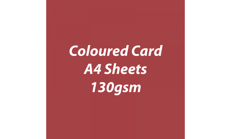 Heyda 100% Recycled Coloured Card  A4 130 gsm barcoded 100 sheets - Rust