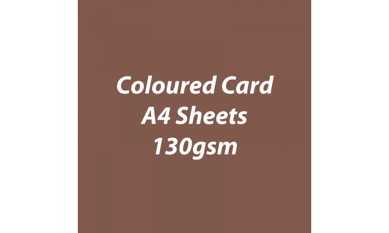 Heyda 100% Recycled Coloured Card  A4 130 gsm barcoded 100 sheets-Brown