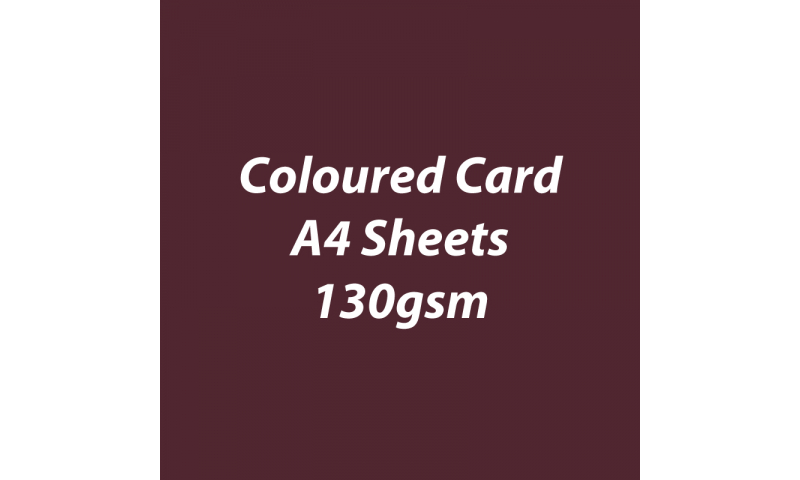 Heyda 100% Recycled Coloured Card  A4 130 gsm barcoded 100 sheets-Coffee