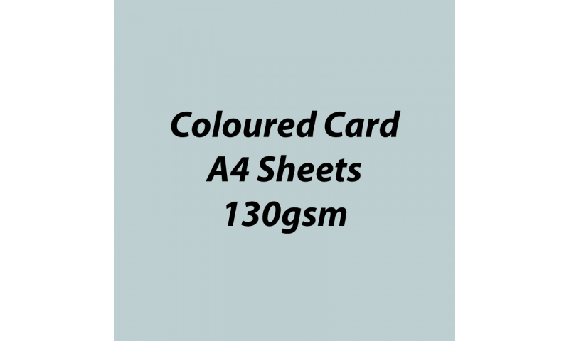Heyda 100% Recycled Coloured Card  A4 130 gsm barcoded 100 sheets-Light Grey