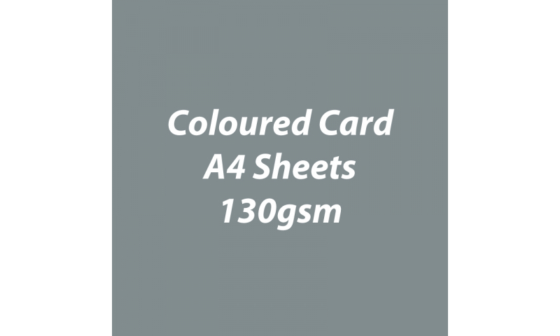 Heyda 100% Recycled Coloured Card  A4 130 gsm barcoded 100 sheets-Grey