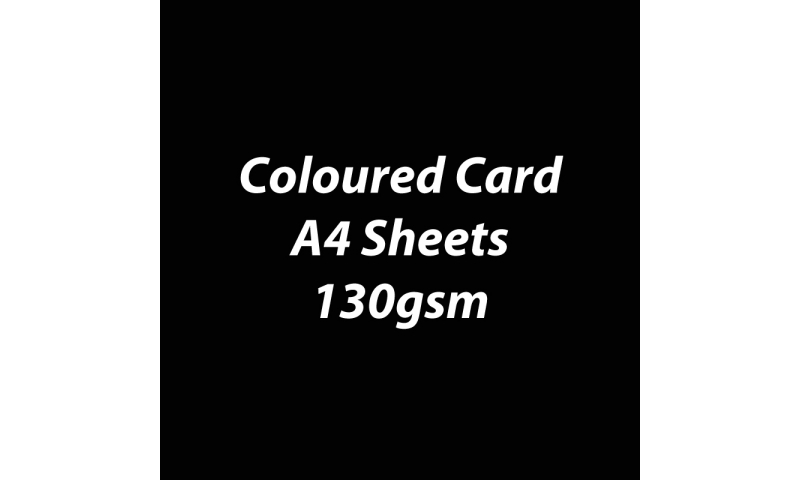 Heyda 100% Recycled Coloured Card  A4 130 gsm barcoded 100 sheets-Black