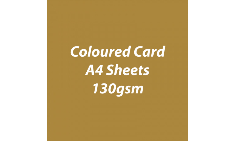 Heyda 100% Recycled Coloured Card  A4 130 gsm barcoded 100 sheets Gloss Gold