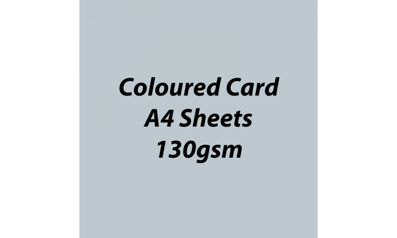 Heyda 100% Recycled Coloured Card  A4 130 gsm barcoded 100 sheets-Gloss Silver