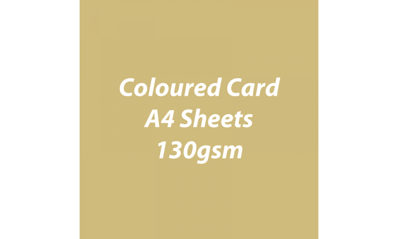 Heyda 100% Recycled Coloured Card  A4 130 gsm barcoded 100 sheets-Matt Gold