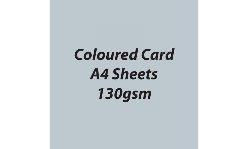 Heyda 100% Recycled Coloured Card  A4 130 gsm barcoded 100 sheets-Matt Silver