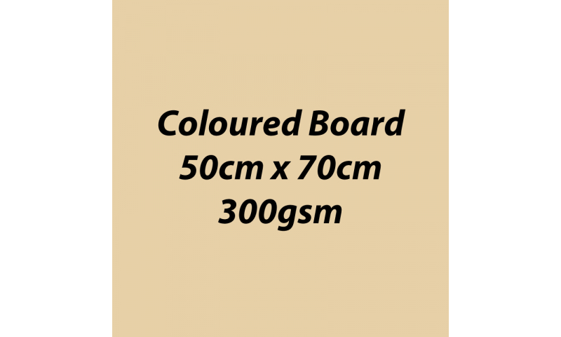 Heyda 100% Recycled Coloured Card  50x70mm 300 gsm barcoded 10 sh- Chamois (New Lower Price for 2021)