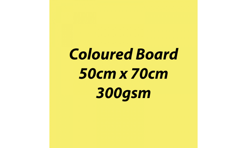 Heyda 100% Recycled Coloured Card  50x70mm 300 gsm barcoded 10 sh- Lemon (New Lower Price for 2021)