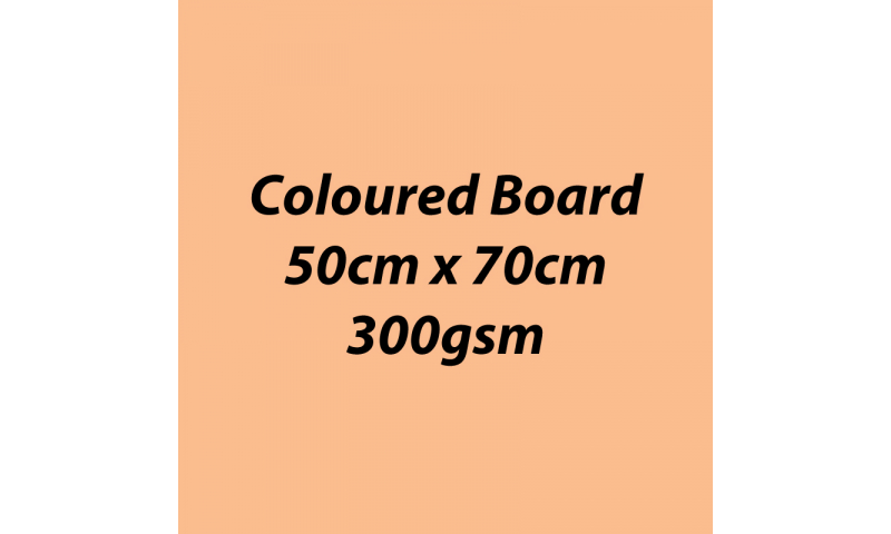 Heyda 100% Recycled Coloured Card  50x70mm 300 gsm barcoded 10 sh- Apricot (New Lower Price for 2021)