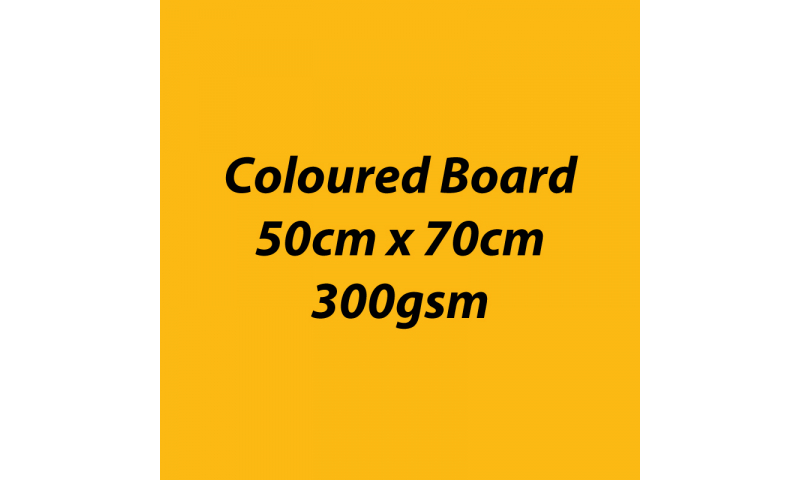 Heyda 100% Recycled Coloured Card  50x70mm 300 gsm barcoded 10 sh- Mango (New Lower Price for 2021)