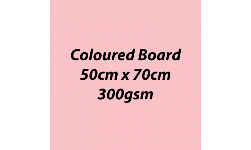 Heyda 100% Recycled Coloured Card  50x70mm 300 gsm barcoded 10 sh- Light Rose (New Lower Price for 2021)