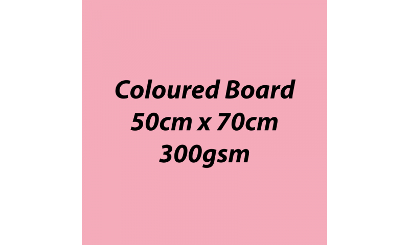 Heyda 100% Recycled Coloured Card  50x70mm 300 gsm barcoded 10 sh- Rose (New Lower Price for 2021)