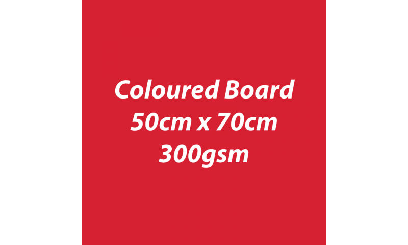 Heyda 100% Recycled Coloured Card  50x70mm 300 gsm barcoded 10 sh- Red (New Lower Price for 2021)
