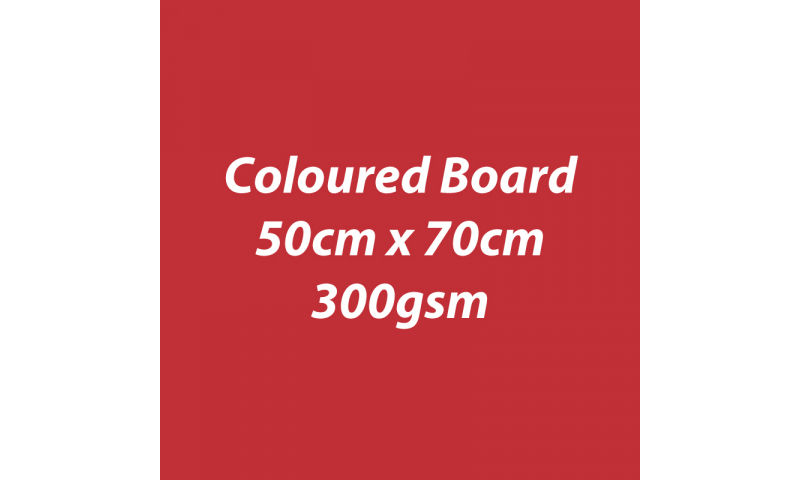 Heyda 100% Recycled Coloured Card  50x70mm 300 gsm barcoded 10 sh- Poppy Red (New Lower Price for 2021)